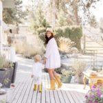 Jillian Harris Walking With Son