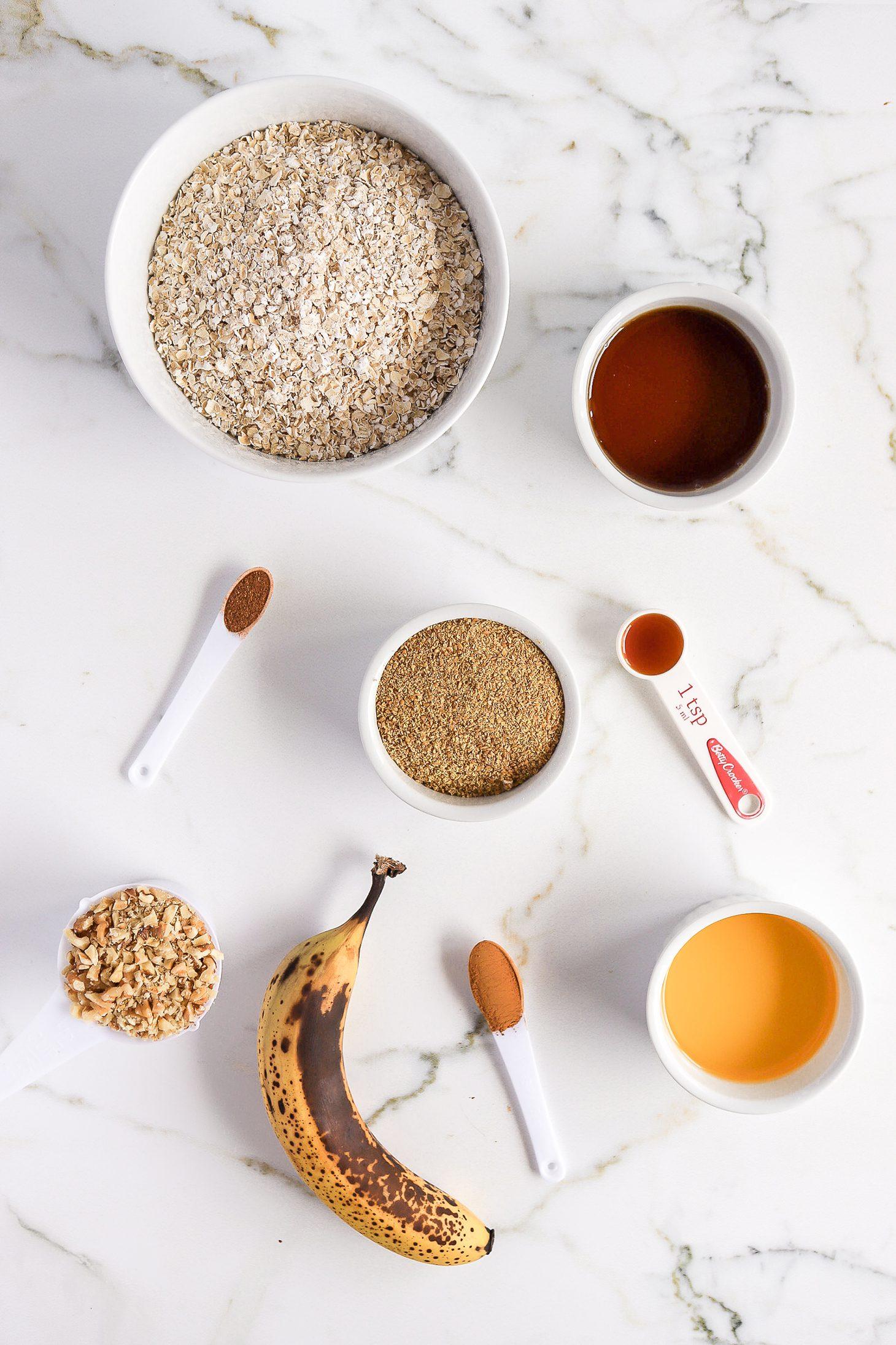 Banana Bread Granola Ingredients