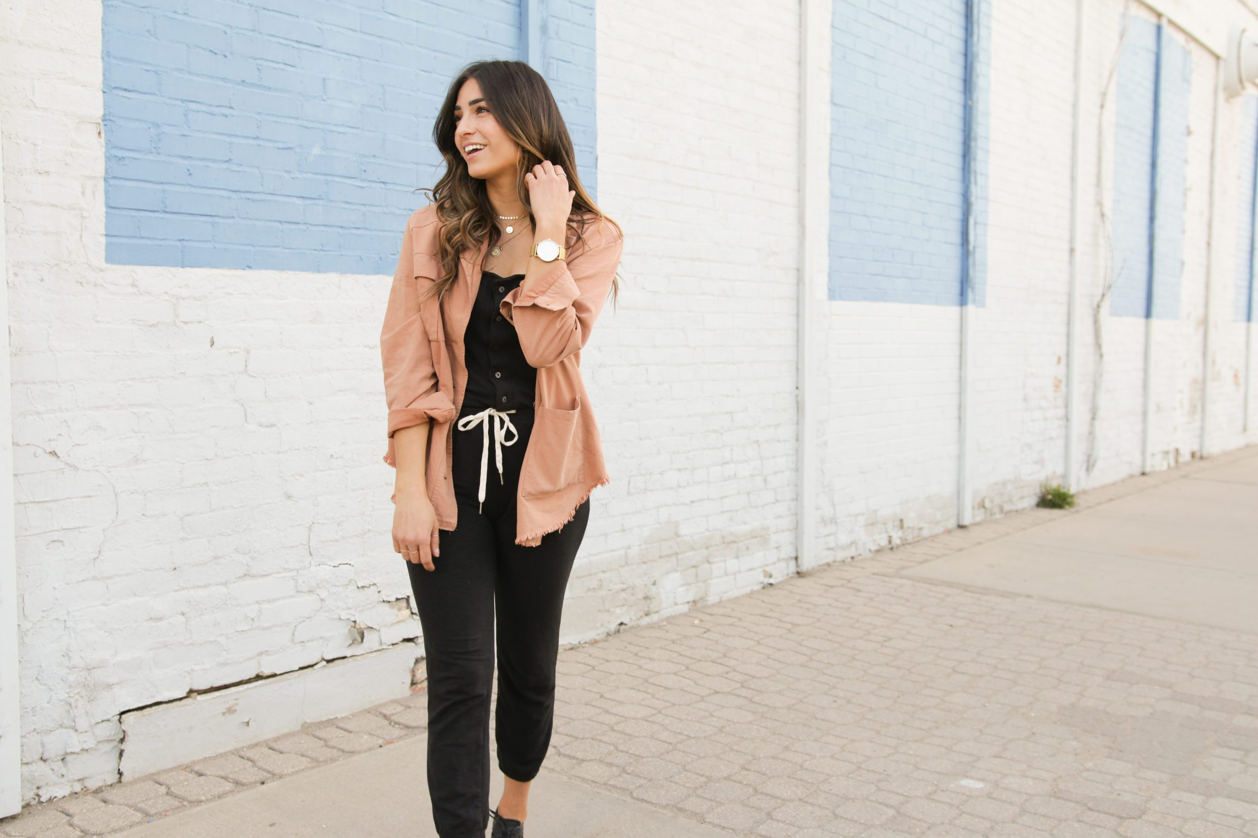 Spring Jacket and Jumpsuit pairing