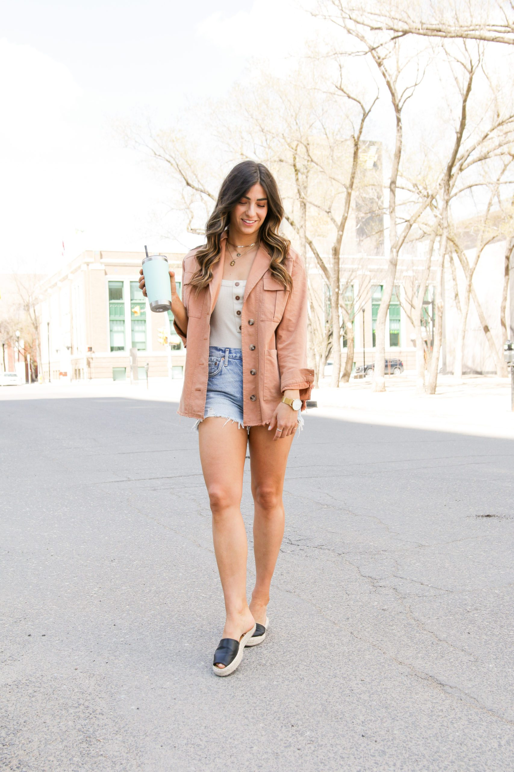 Styling a spring jacket