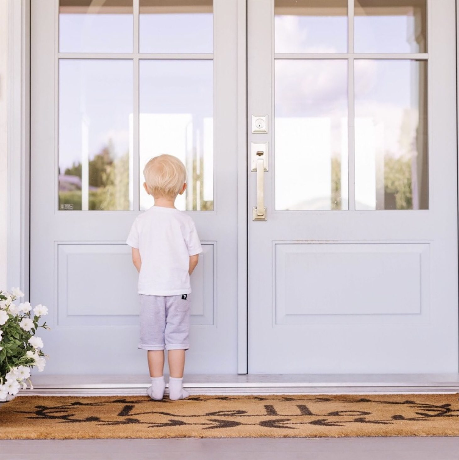 Leo Pasutto Waiting at the Front Door