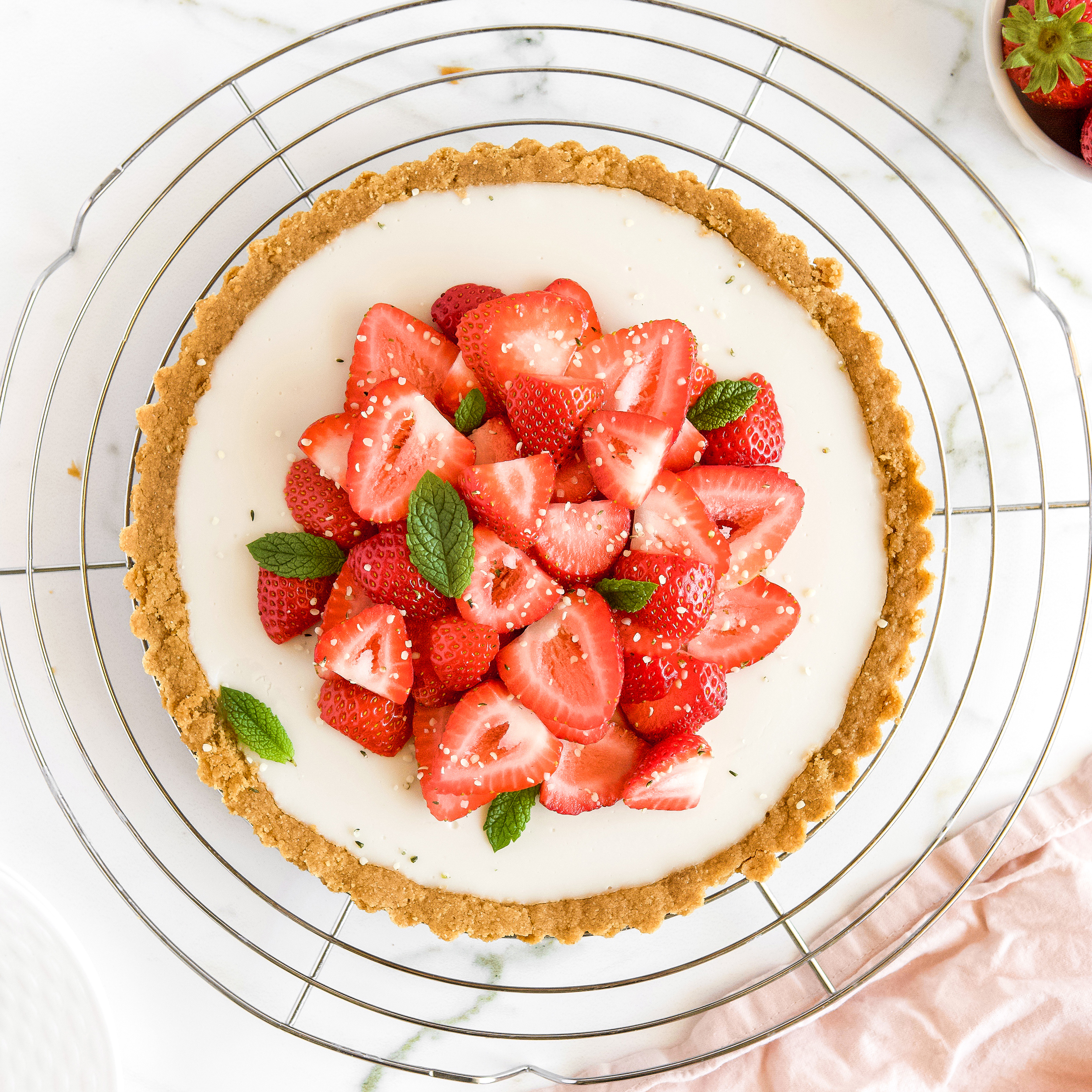 Vegan Strawberries and Cream Pie Recipe