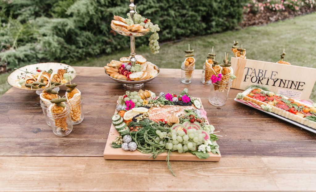 Outdoor Picnic Food Selection