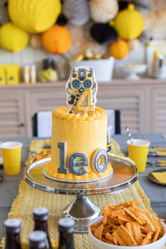 Little Boy's Transformers Party Cake