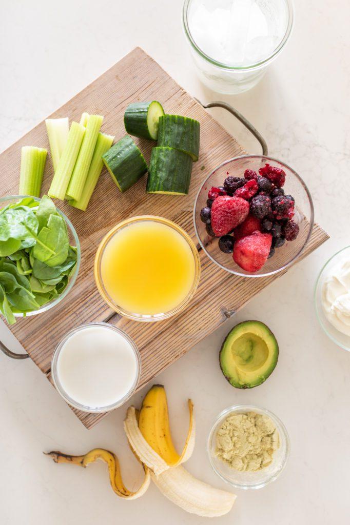 Green smoothie recipe ingredients