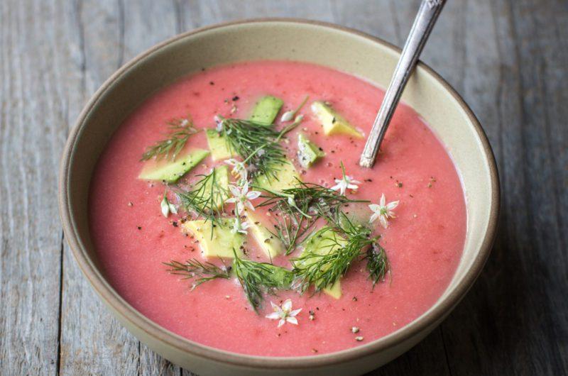 Mississippi Vegan's Pink Potato Soup