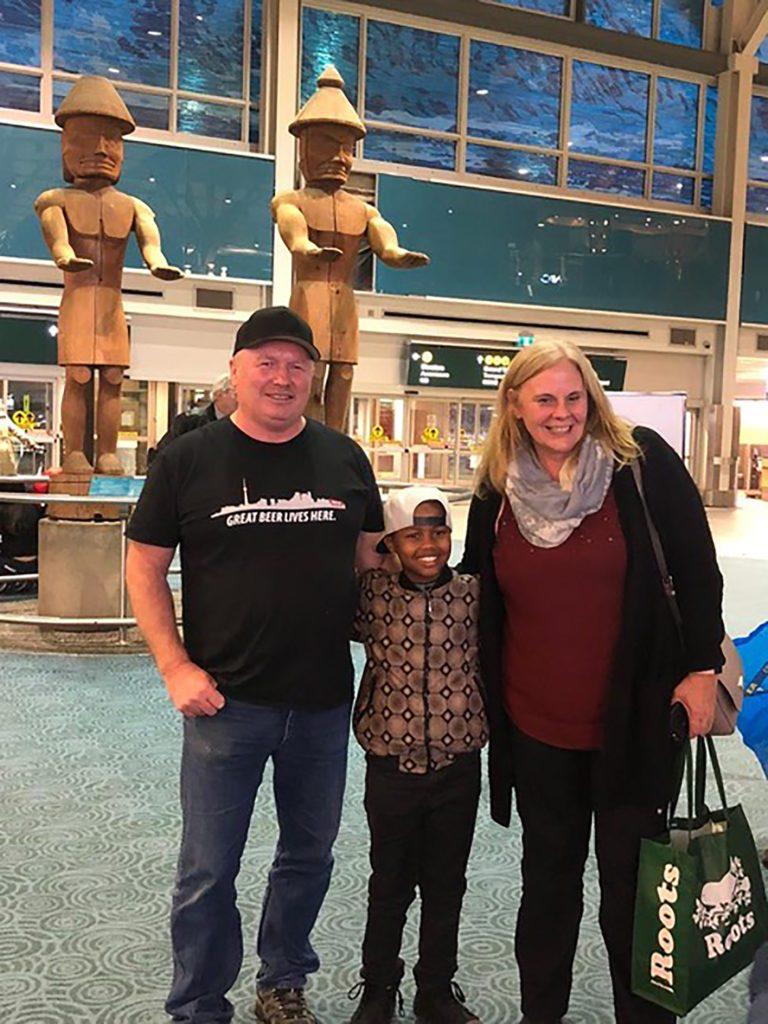 Joseph arriving in Canada