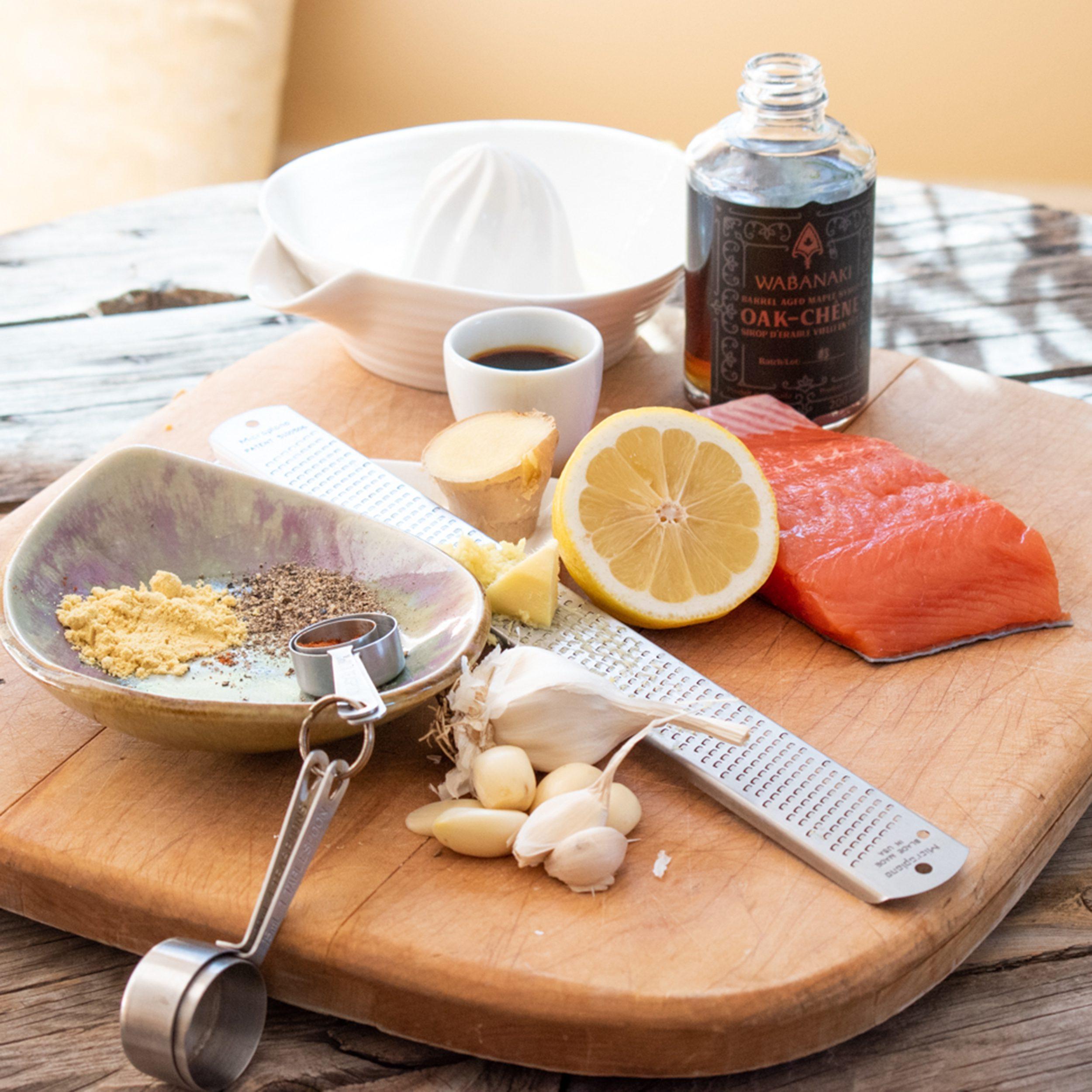 Maple Glazed Bite Sized Salmon Recipe