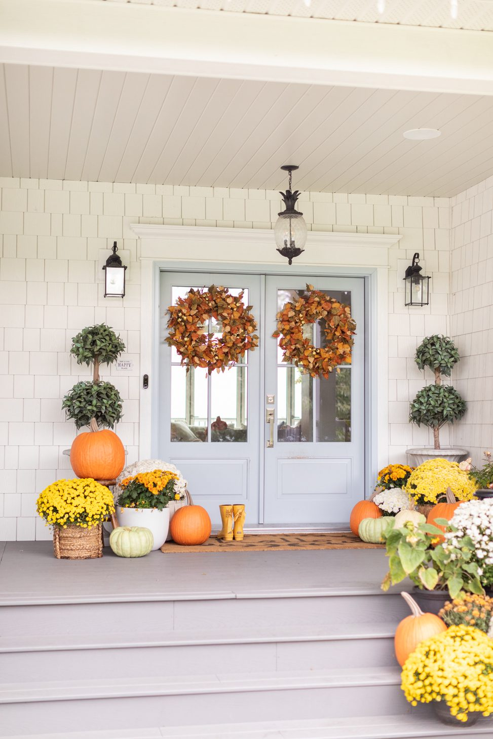 how to decorate your porch for thanksgiving
