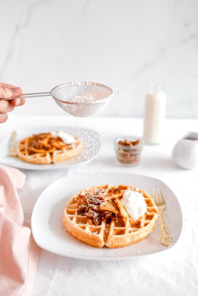 Spiced Apple Cinnamon Waffle Recipe