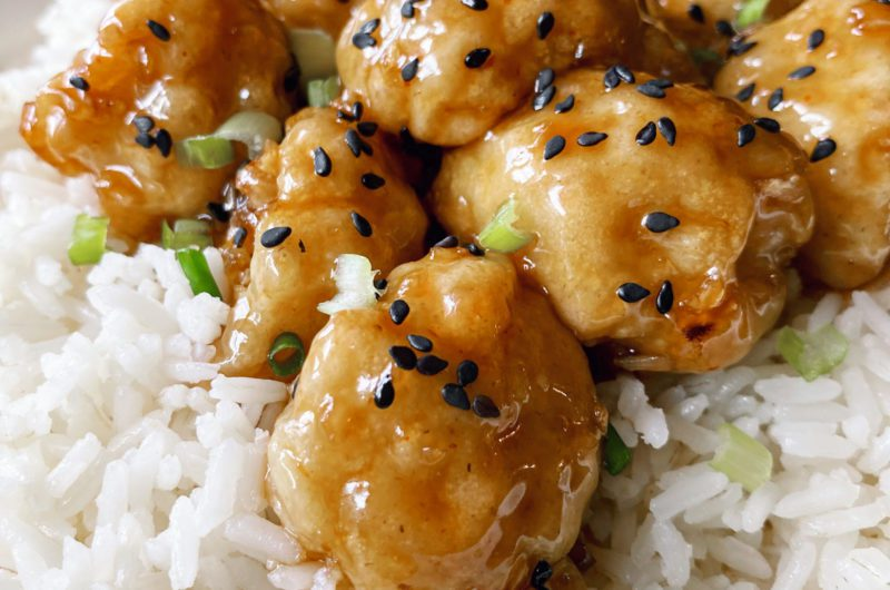 Sticky Sesame Cauliflower Recipe by Veggie Peggy