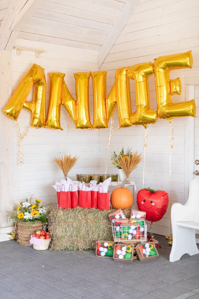 Old McDonald birthday party decor