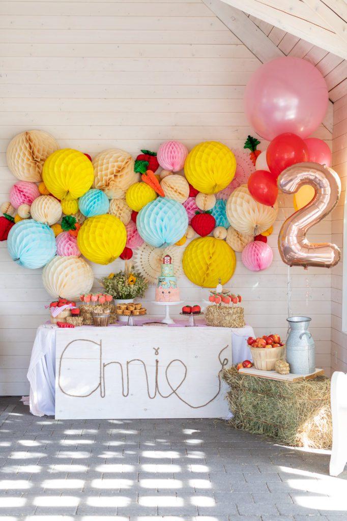 Annie's second birthday party decor
