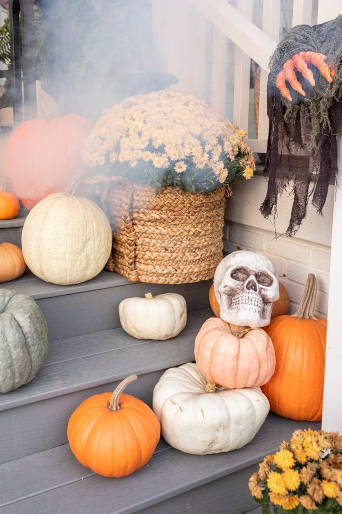 Porch Halloween decor
