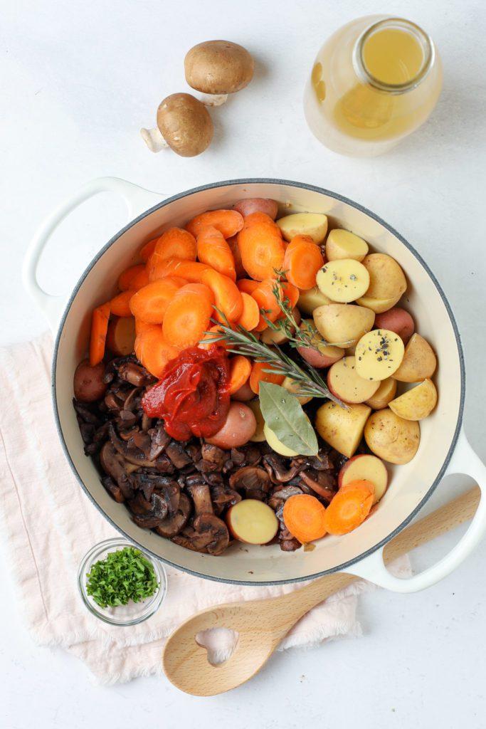 Delicious one pot mushroom stew recipe