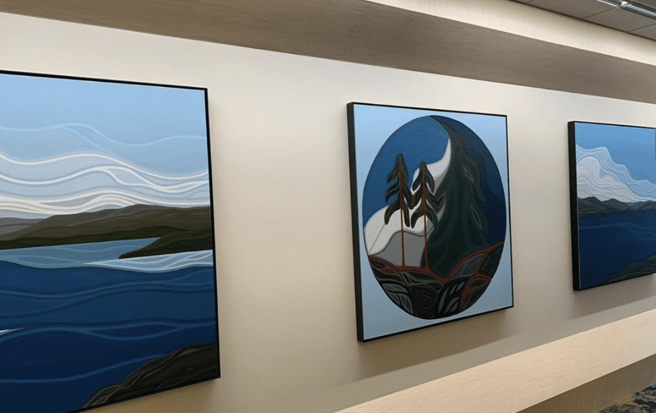 Jody Bruce Art displayed in the CAC