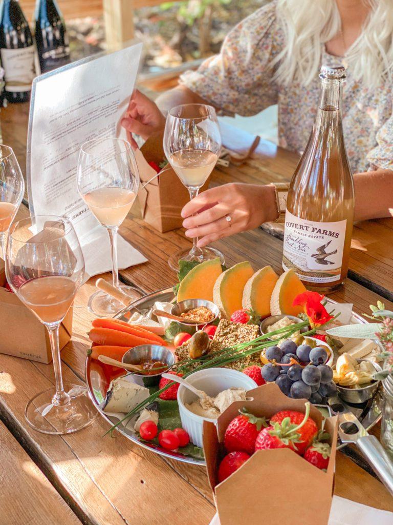 Wine tasting at Covert Farms Family Estate Oliver, BC