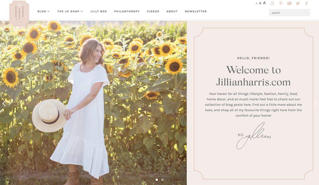 Improved JillianHarris.com