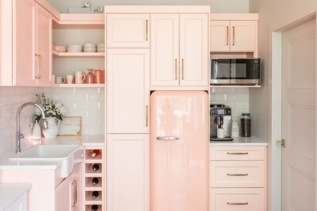 Pretty in Pink JHD Office Kitchen!