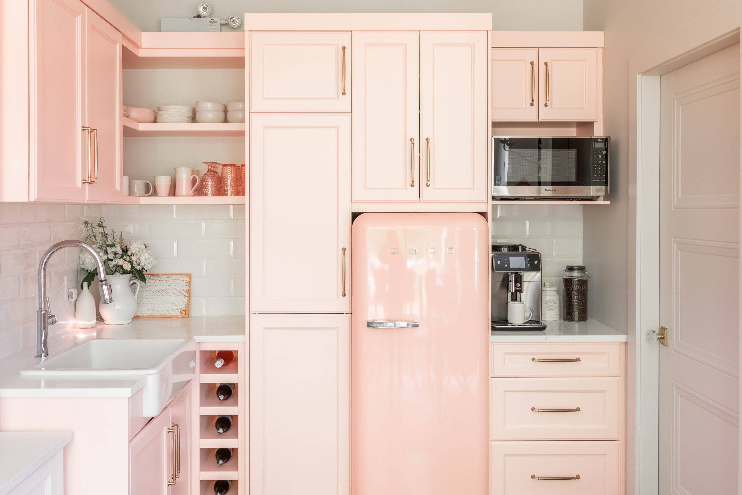 Pretty in Pink JHD Office Kitchen!