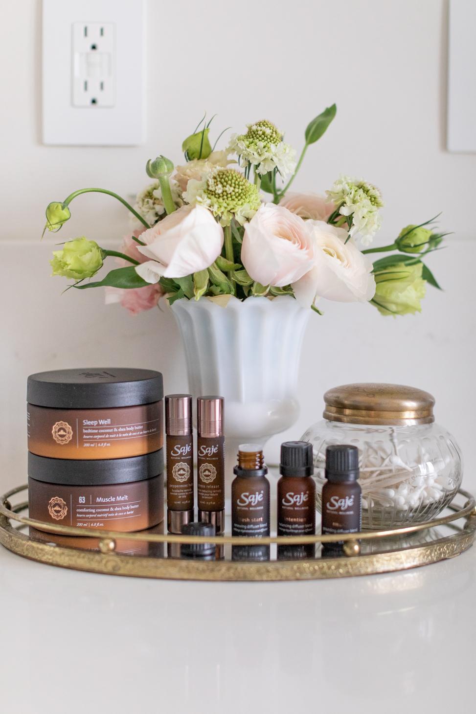 Jillian Harris favourite Saje Wellness Products to promote Self-Care