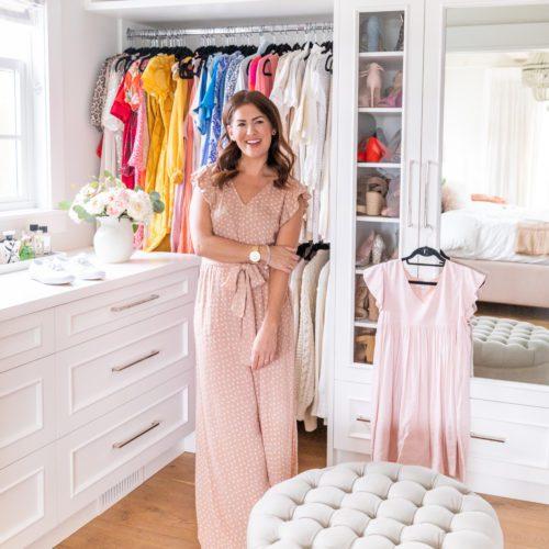Jillian Harris' in her Colourful Closet
