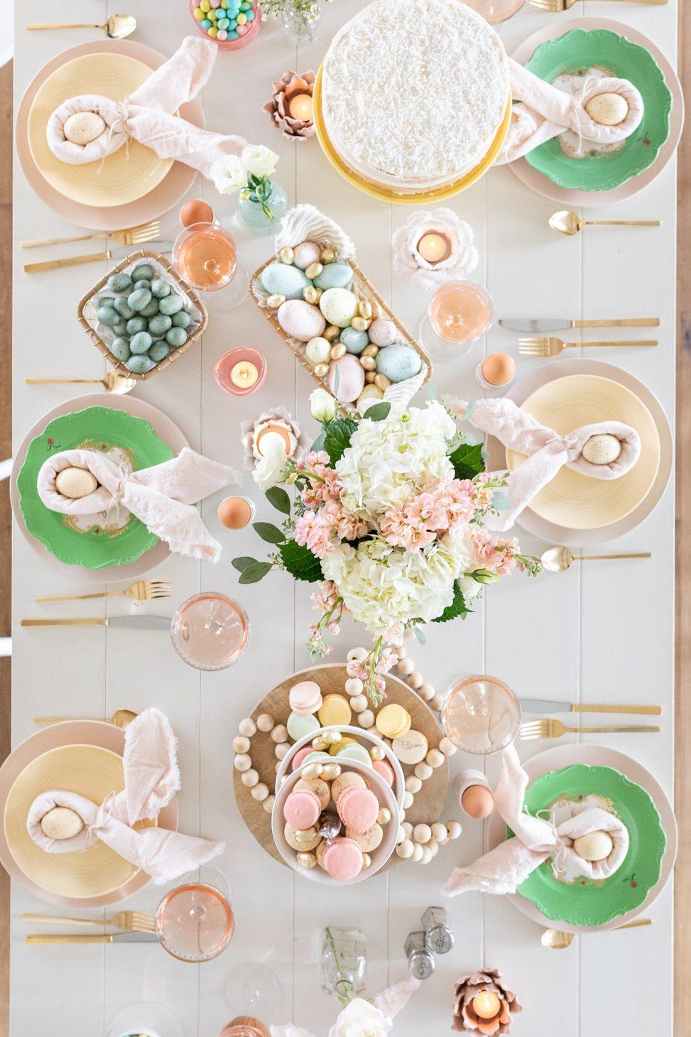 Easter Celebration Tablescape