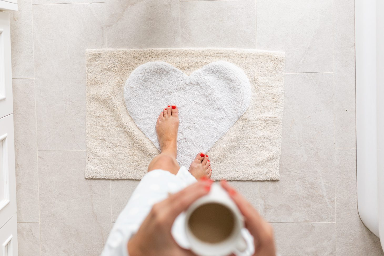 Jillian Harris Heart Bath Mat
