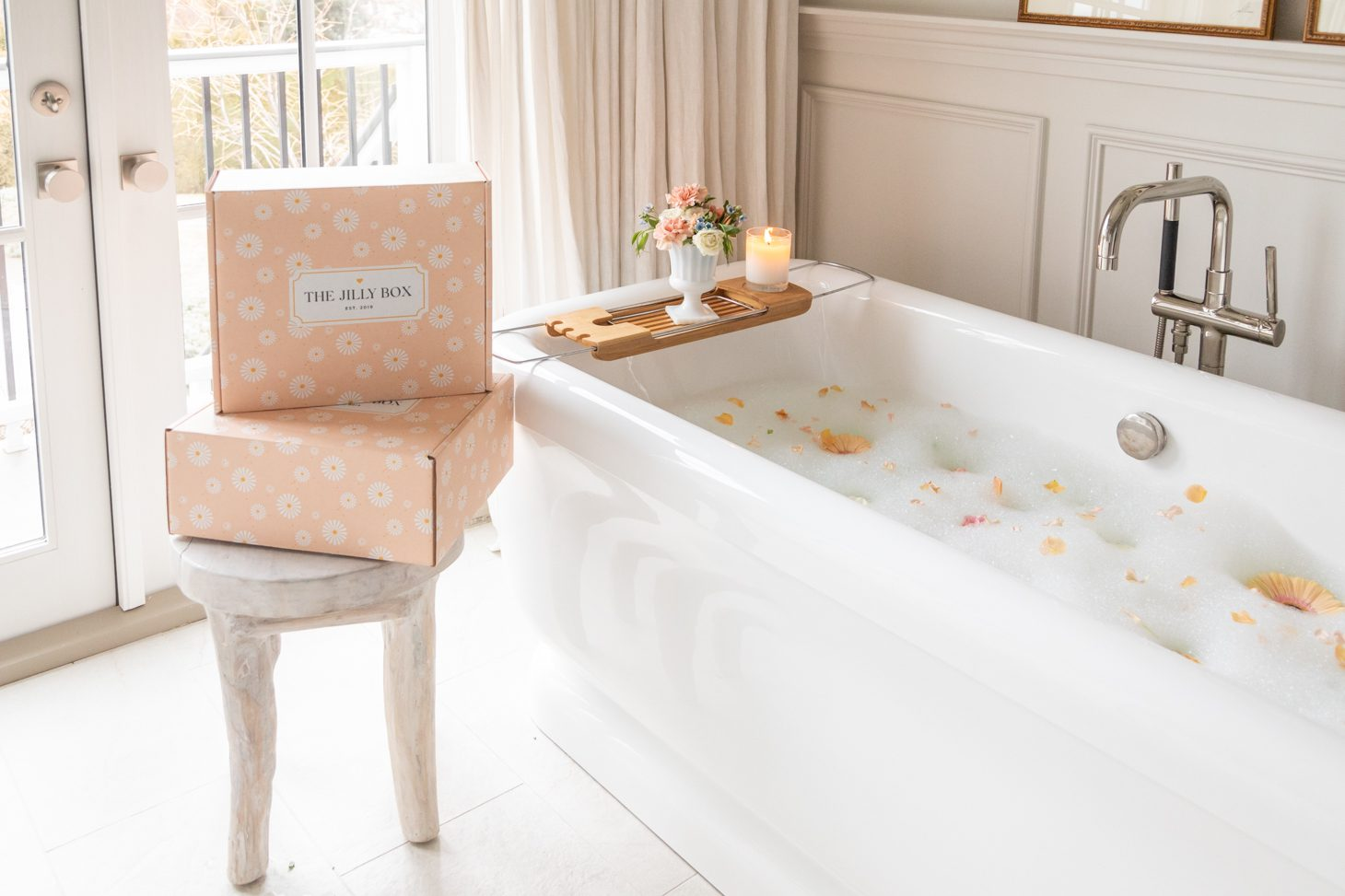Jillian Harris Bathtub with Spring 2021 Jilly Box