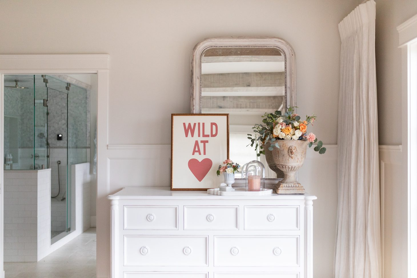 Jillian Harris Red Wild at Heart Print