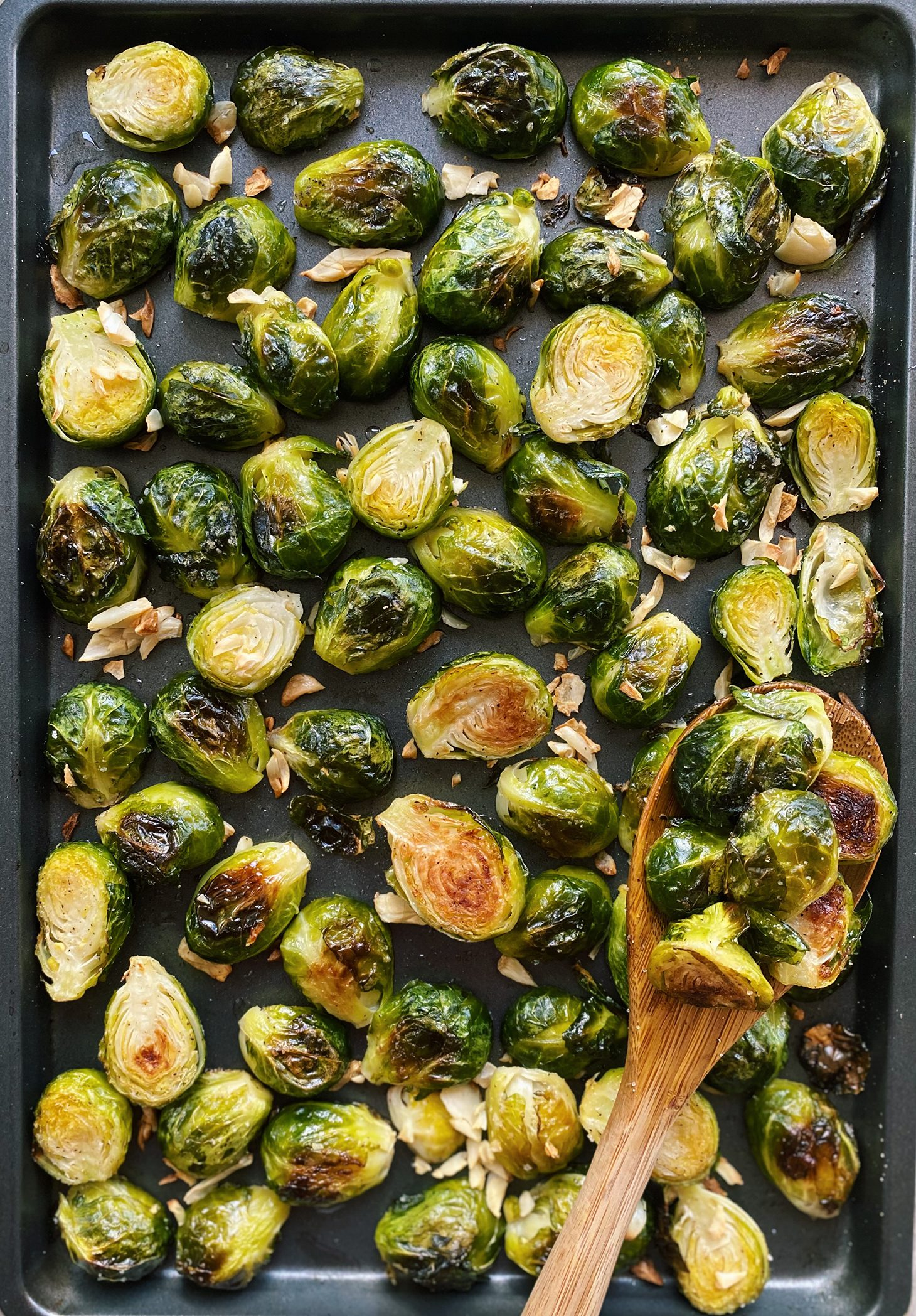 Garlic and Balsamic Roasted Brussel Sprout Recipe