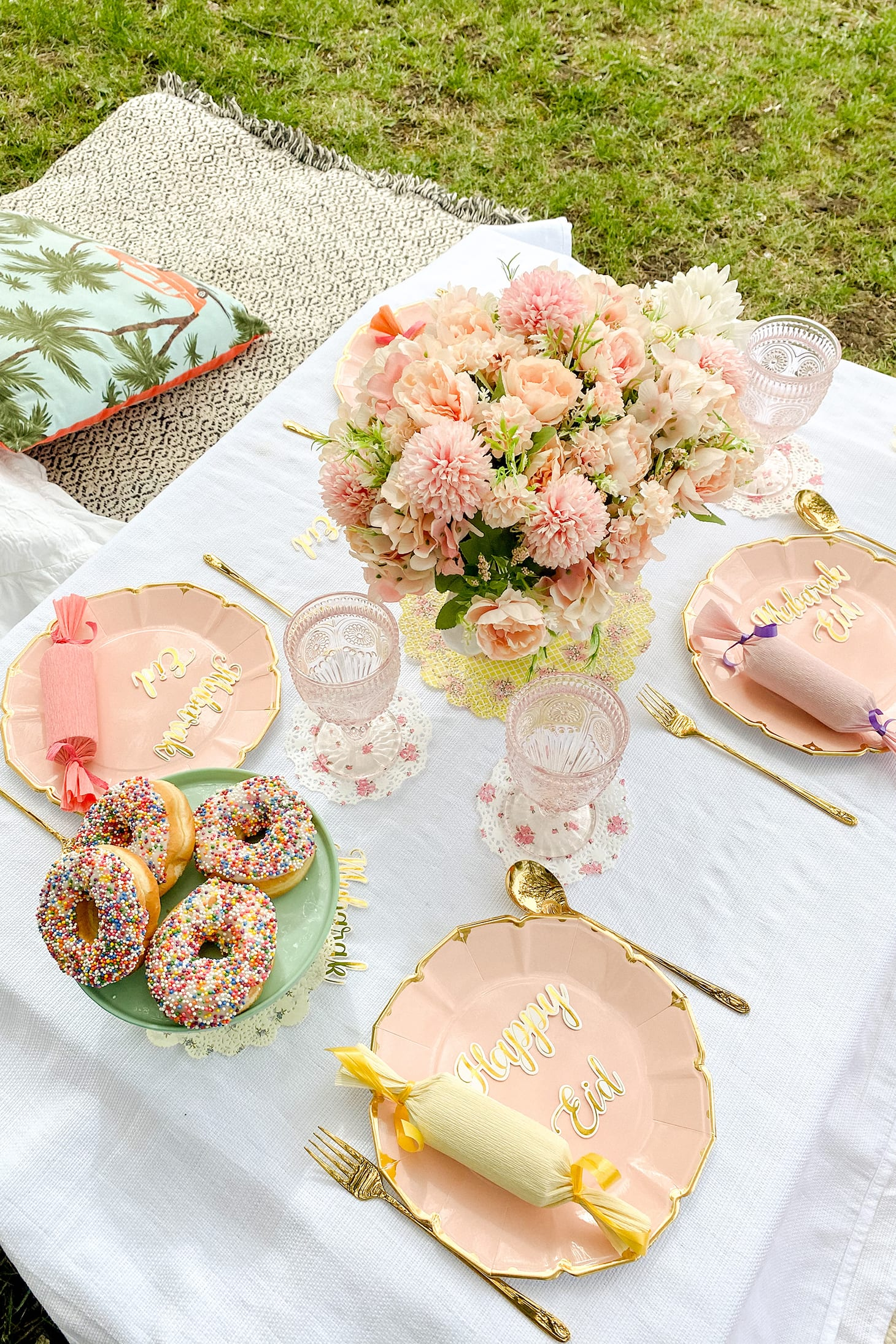 Table decorated to show Eid Day Traditions