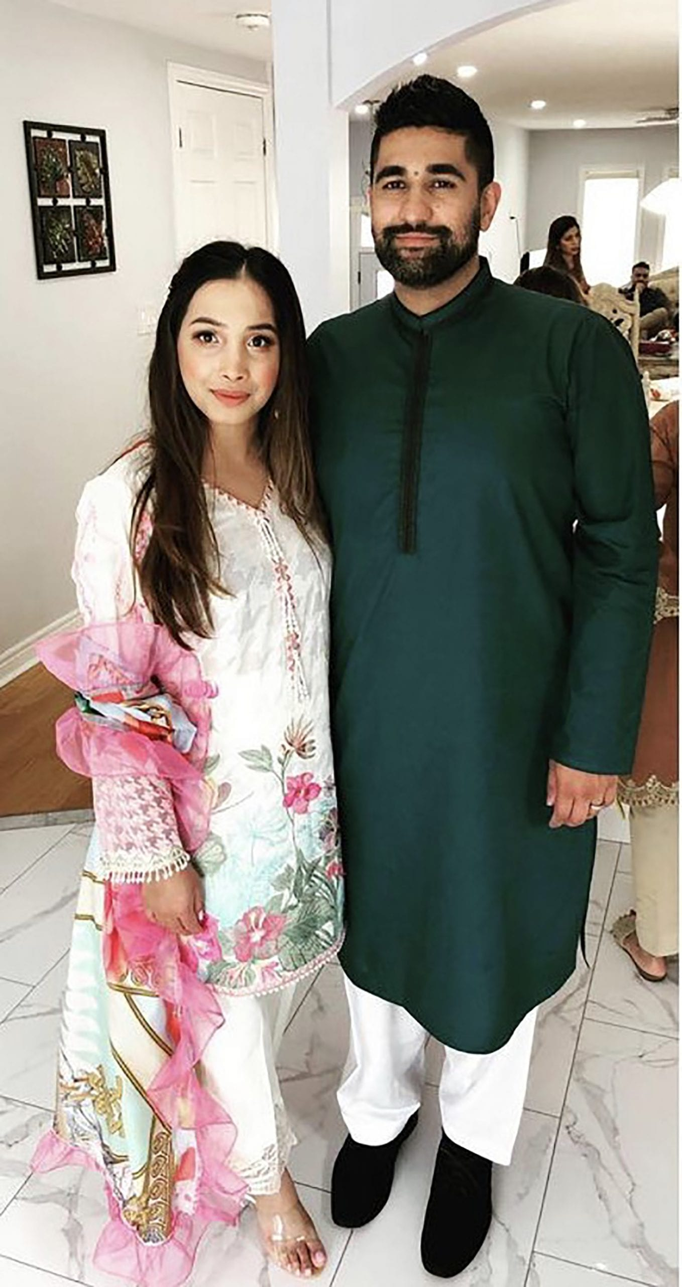 Mubina Sami Celebrating Eid Day with loved ones.