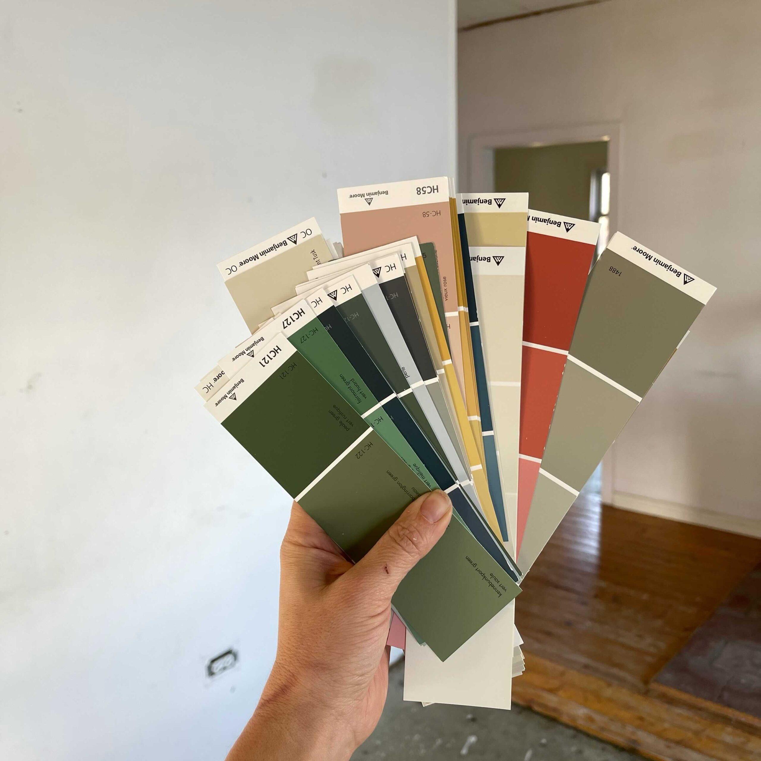 Farmhouse Paint Colour Swatches