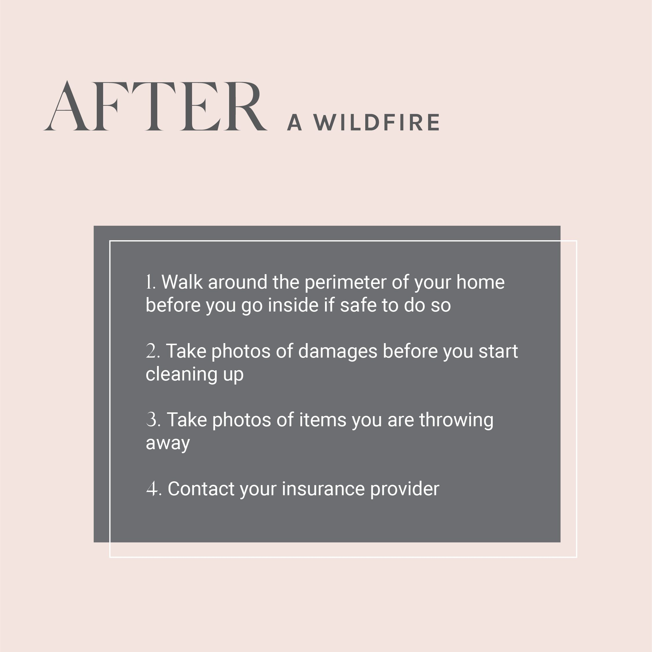 How to return home after a wildfires
