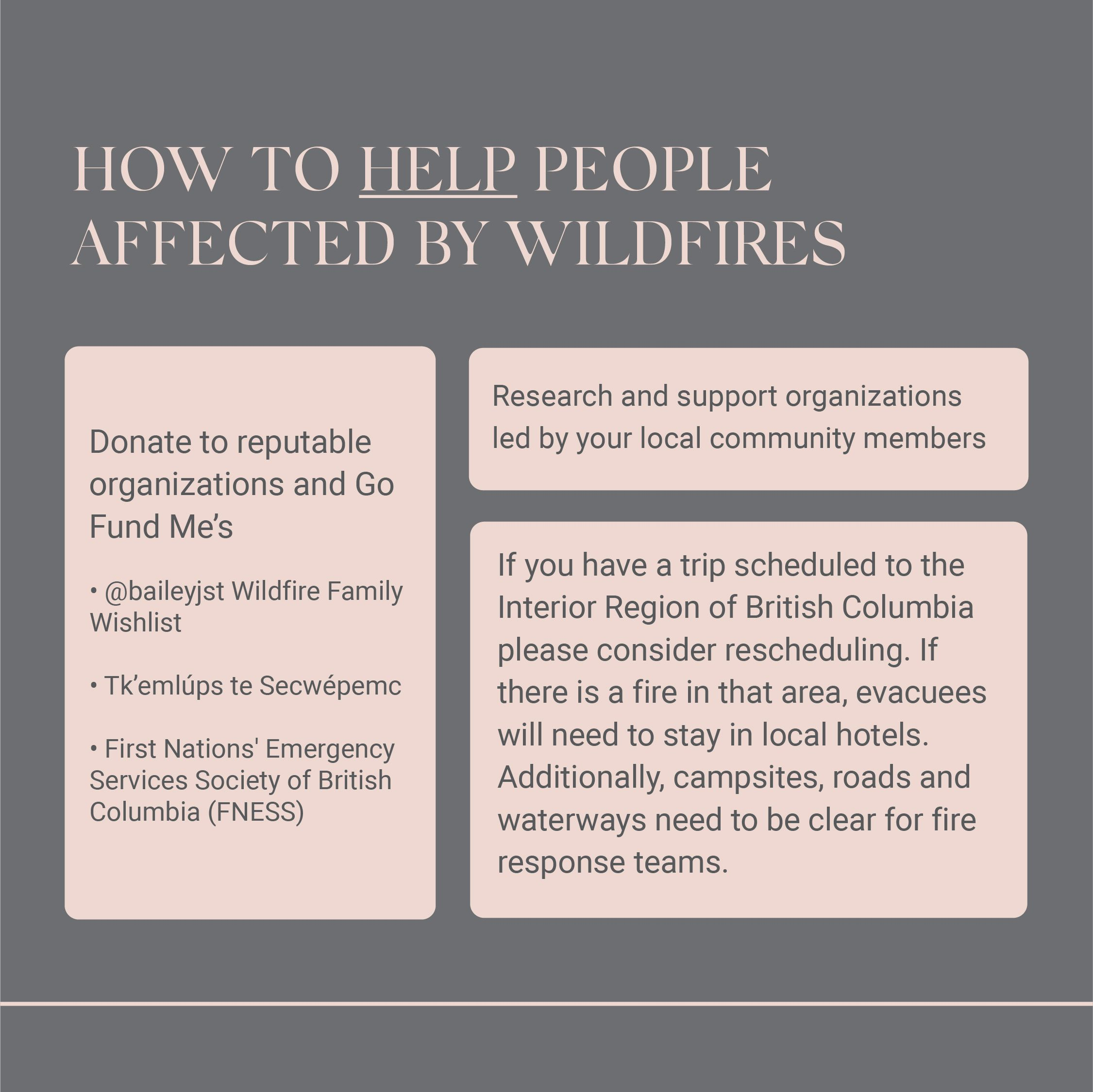 How to support people affected by natural disasters