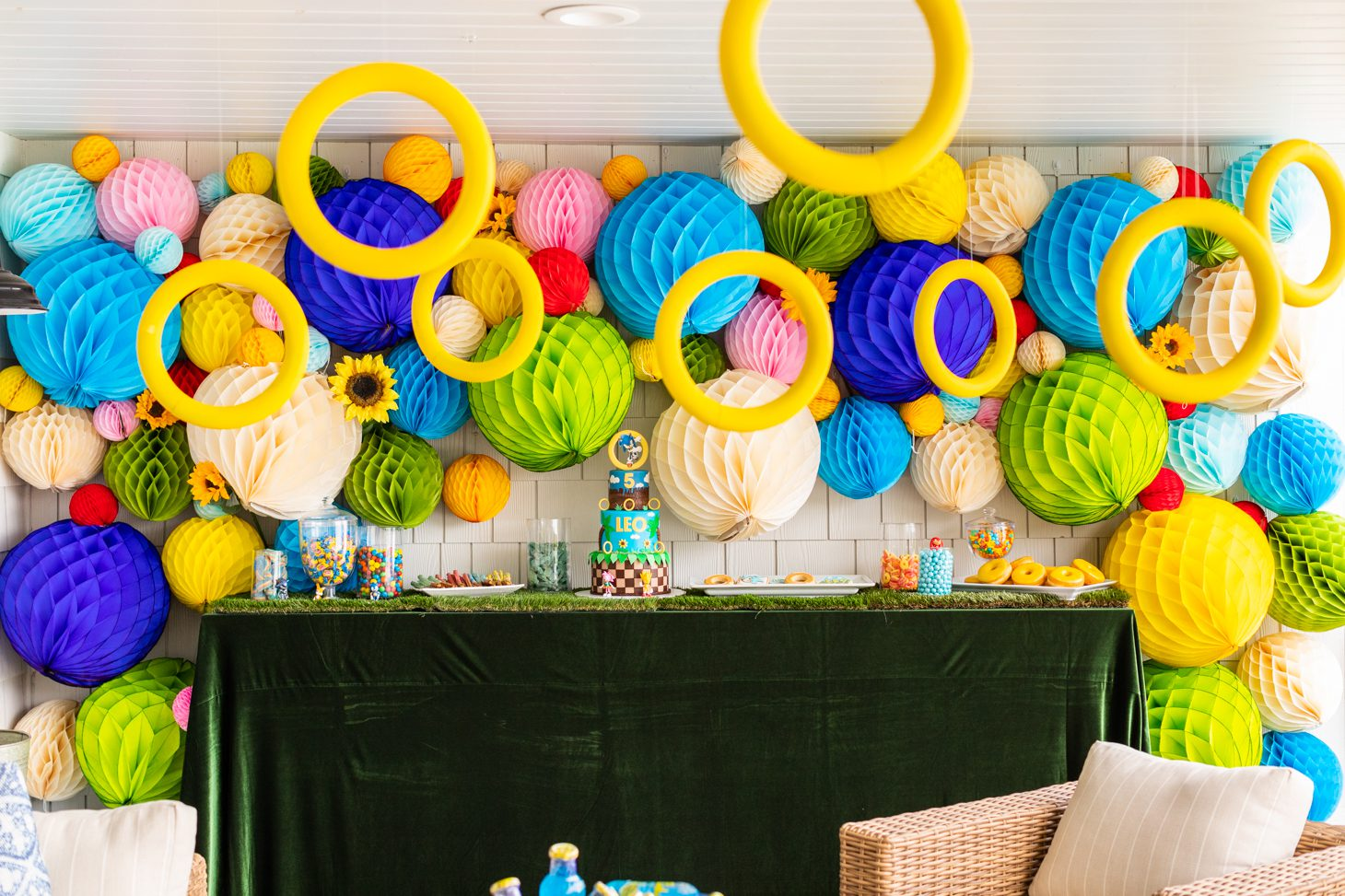 Sonic the Hedgehog themed party
