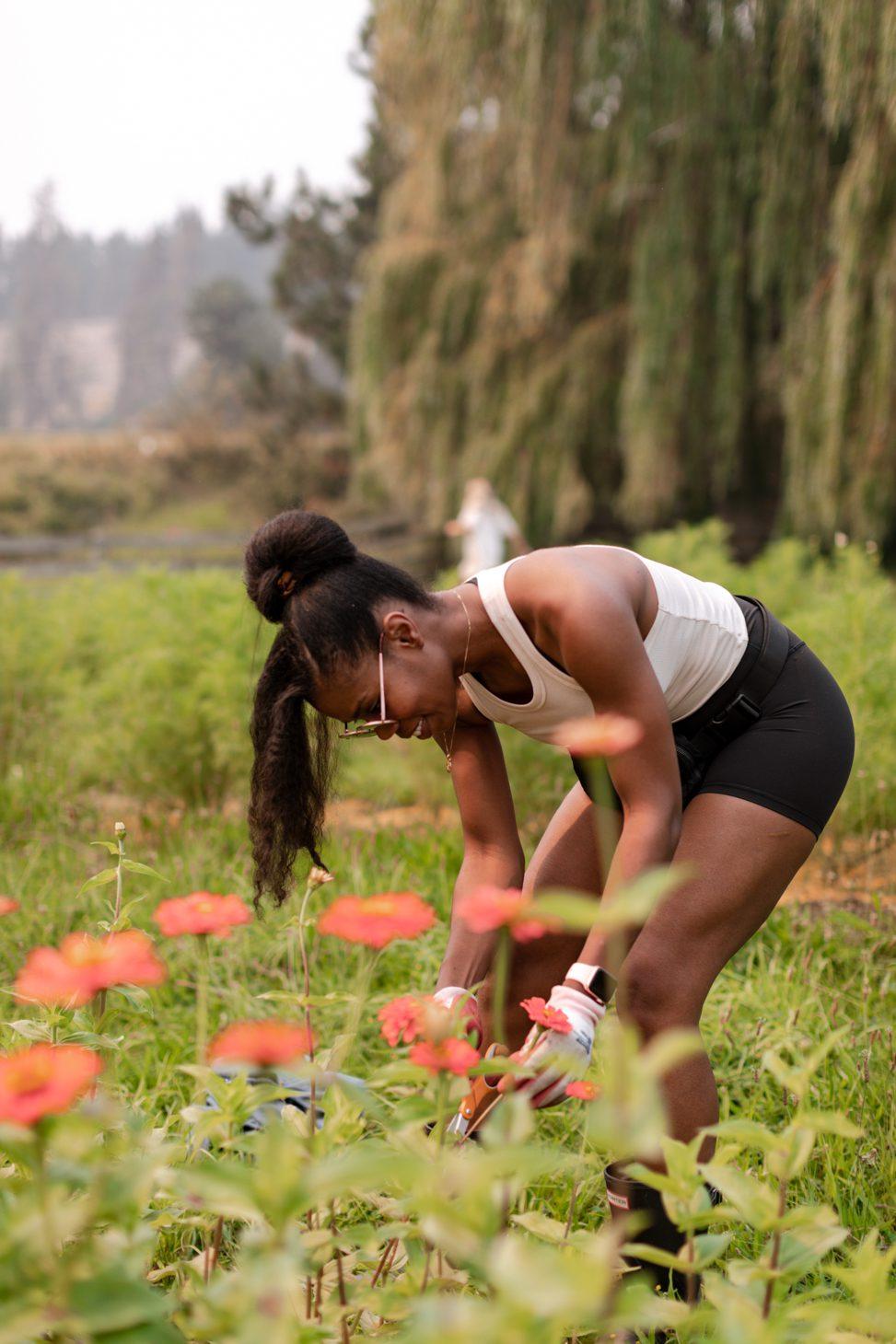 Team Jilly Harvesting Flowers for The Flower Event