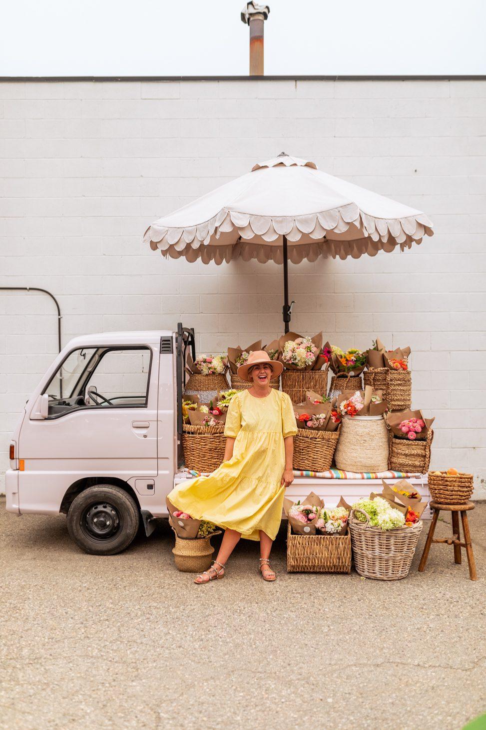 Jillian Harris' Flower Truck