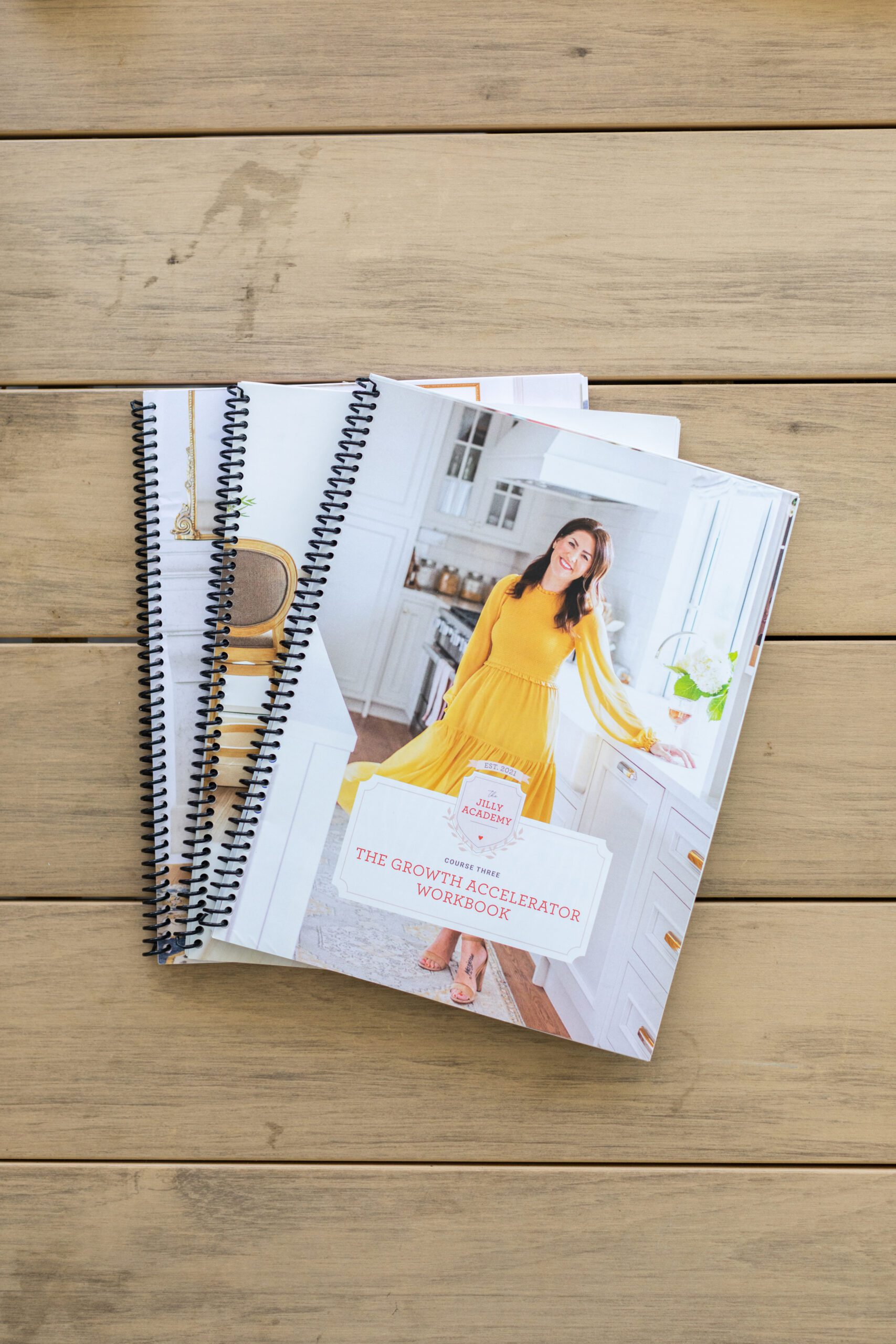 Jillian Harris' Workbooks for The Jilly Academy, ready for the Fall Semester.